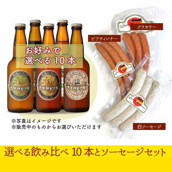 選べる飲み比べ10本とシンドラーソーセージ3種パック(NB10-BS)